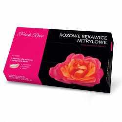 Rękawice nitrylowe Pink Rosse Clollagen z kolagenem 100szt.